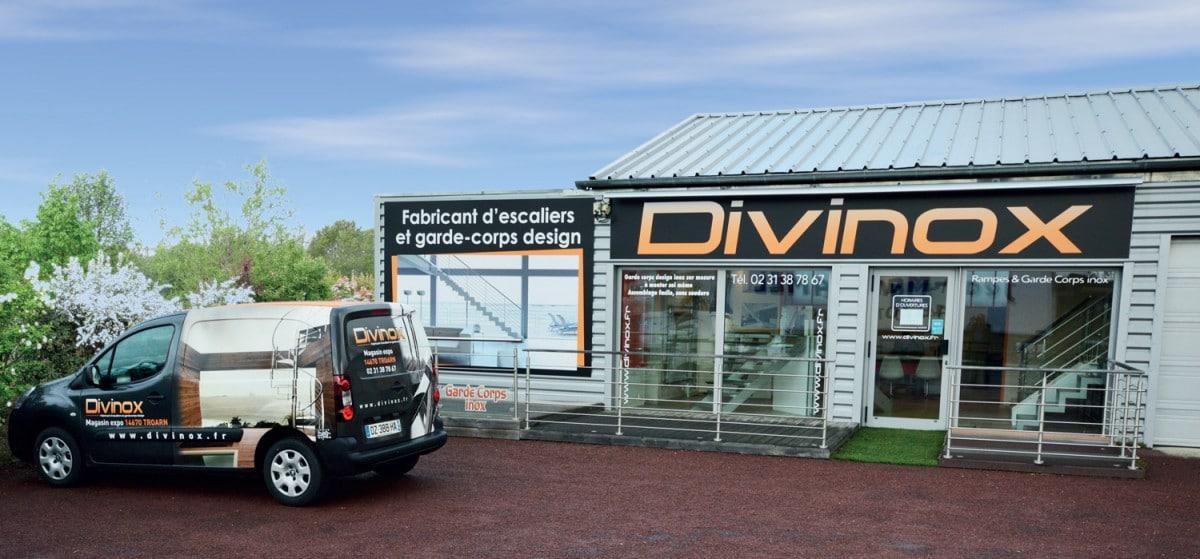La boutique de Divinox à coté de Caen