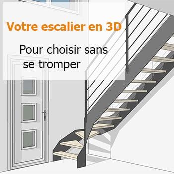 Plan d'escalier 3D