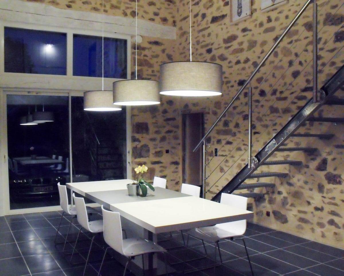 escalier en acier pour un loft style industriel