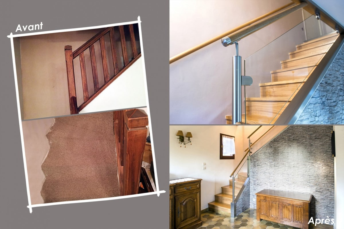 Renovation Rampe Escalier Perfect Dsc With Renovation Rampe  ~ Transformer Un Escalier En Bois