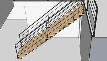 Simulation 3d de votre escalier