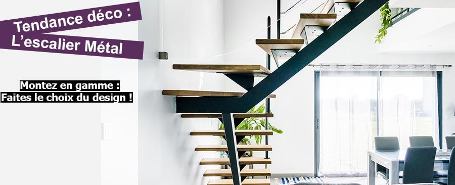 Tendance déco : escalier métal
