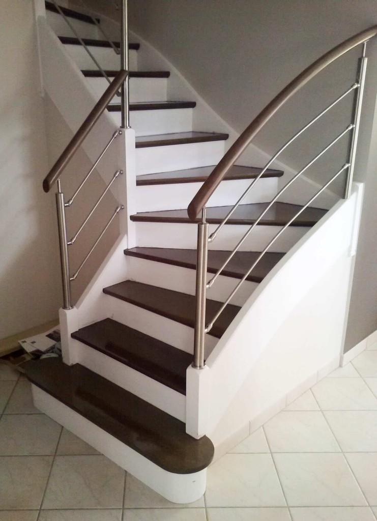 avant apr 232 s escalier et sa rambarde sur mesure par divinox