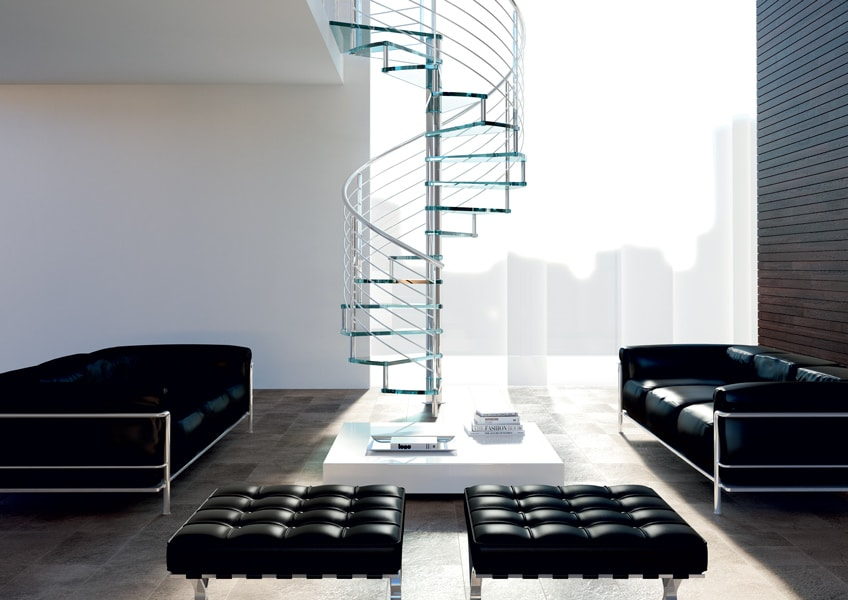 escalier en colima on tendance moderne et gain d 39 espace. Black Bedroom Furniture Sets. Home Design Ideas