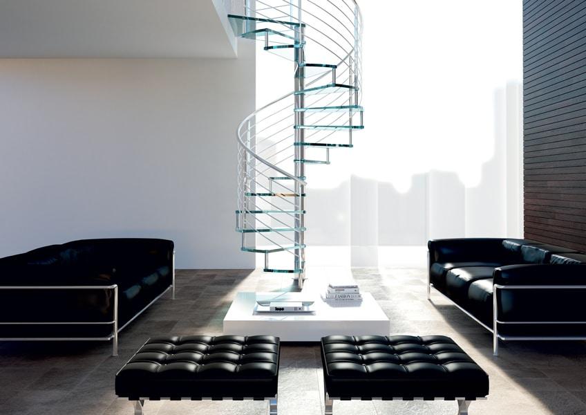 Escalier en colimaçon : tendance, moderne et gain despace