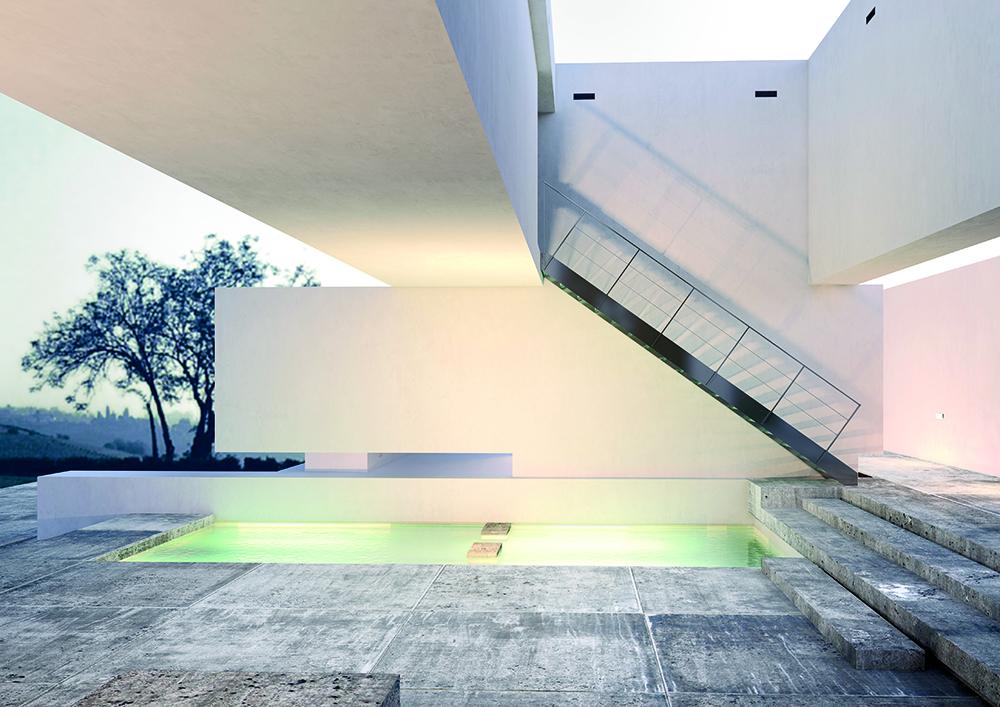 Escalier inox limon plein - extérieur