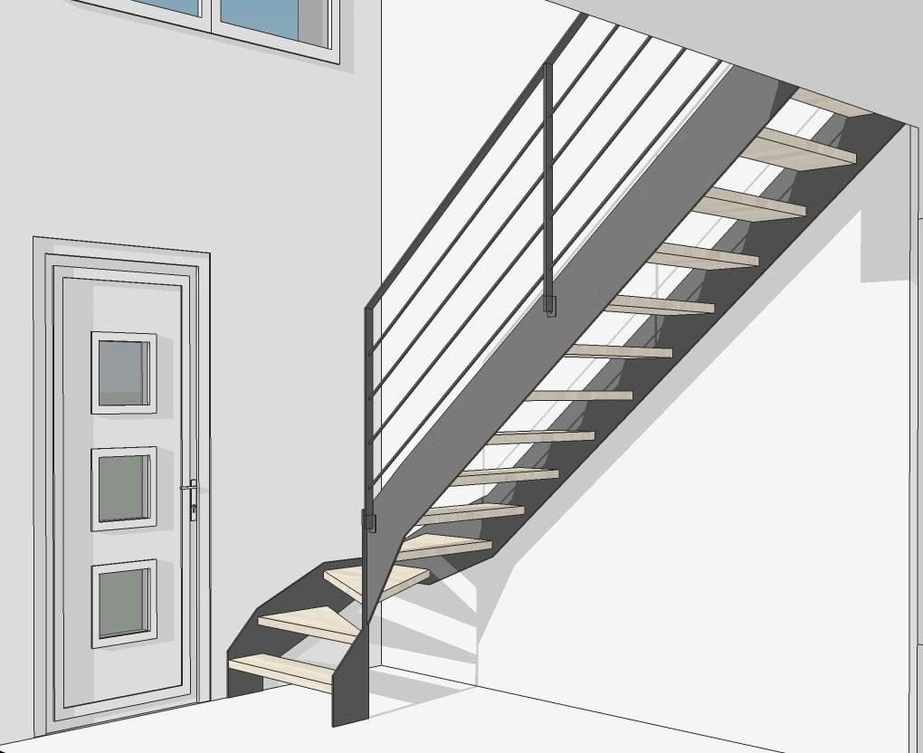 Votre plan d 39 escalier en 3d avec le bureau d 39 tude divinox - Amenager son interieur en 3d gratuitement ...