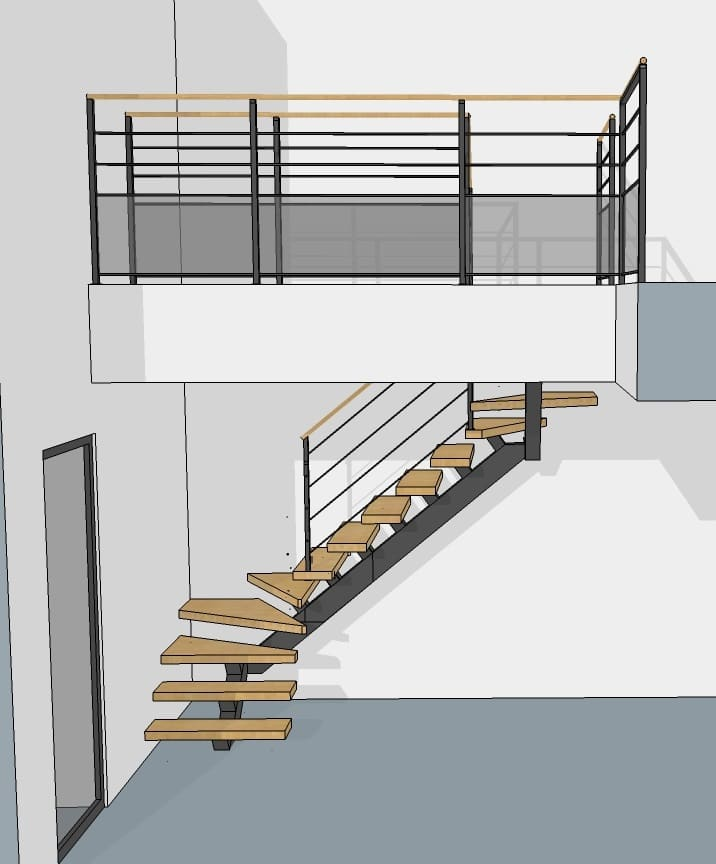 votre plan d 39 escalier en 3d avec le bureau d 39 tude divinox. Black Bedroom Furniture Sets. Home Design Ideas
