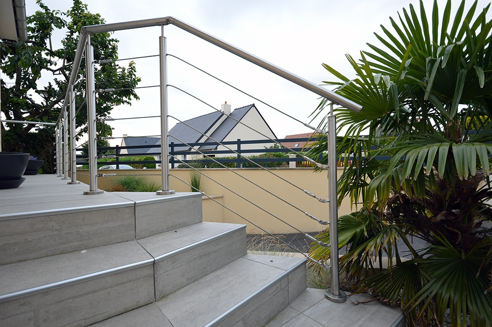 Garde corps cable terrasse