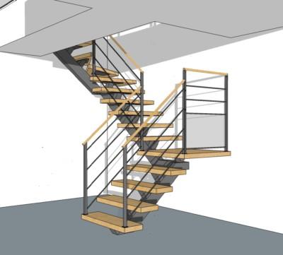 , Plan d'Escalier en 3D