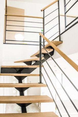 Rambarde escalier acier