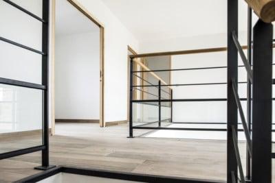 rampe d'escalier acier