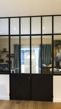 verriere cuisine salon autre angle de vue. Black Bedroom Furniture Sets. Home Design Ideas