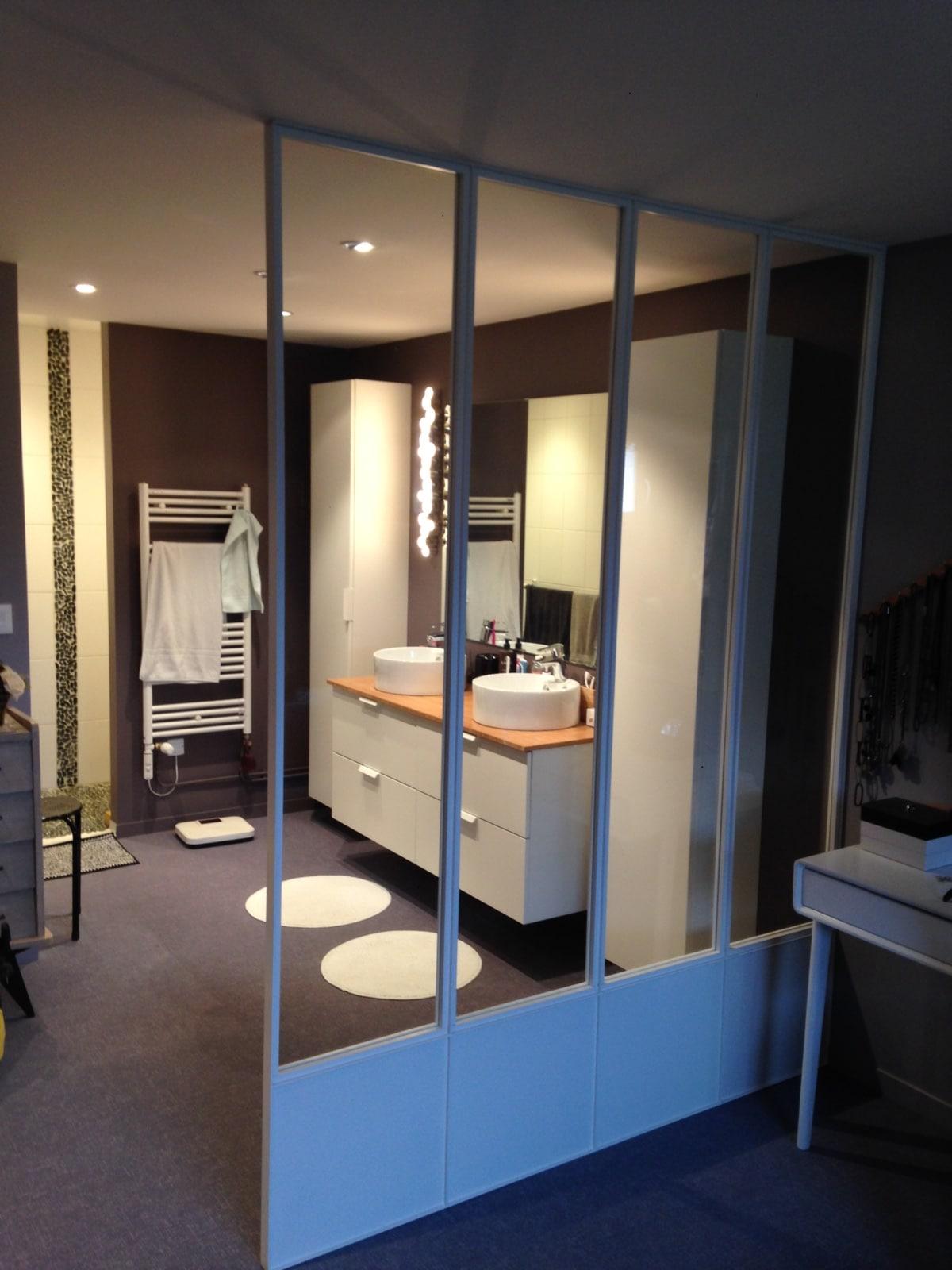 De l 39 autre cot de la suite parentale divinox for Separation entre chambre et salle de bain