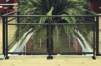 garde-corps alu et verre patio