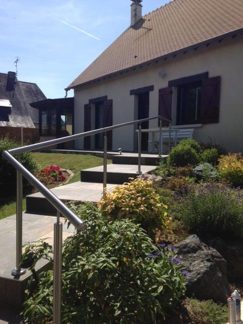 GardeCorps Extrieur Sur Une Terrasse En Escalier