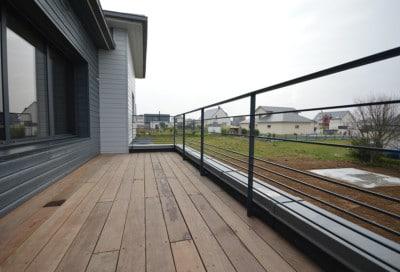 garde-corps acier sur terrasse