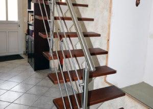 Escalier Limon Central Blanc