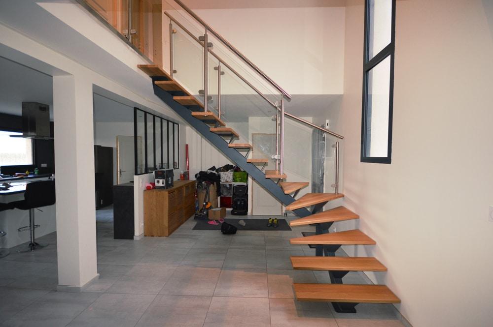 Escalier et verriere