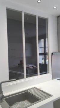 Verriere retro salle de bain - Verriere cuisine blanche ...