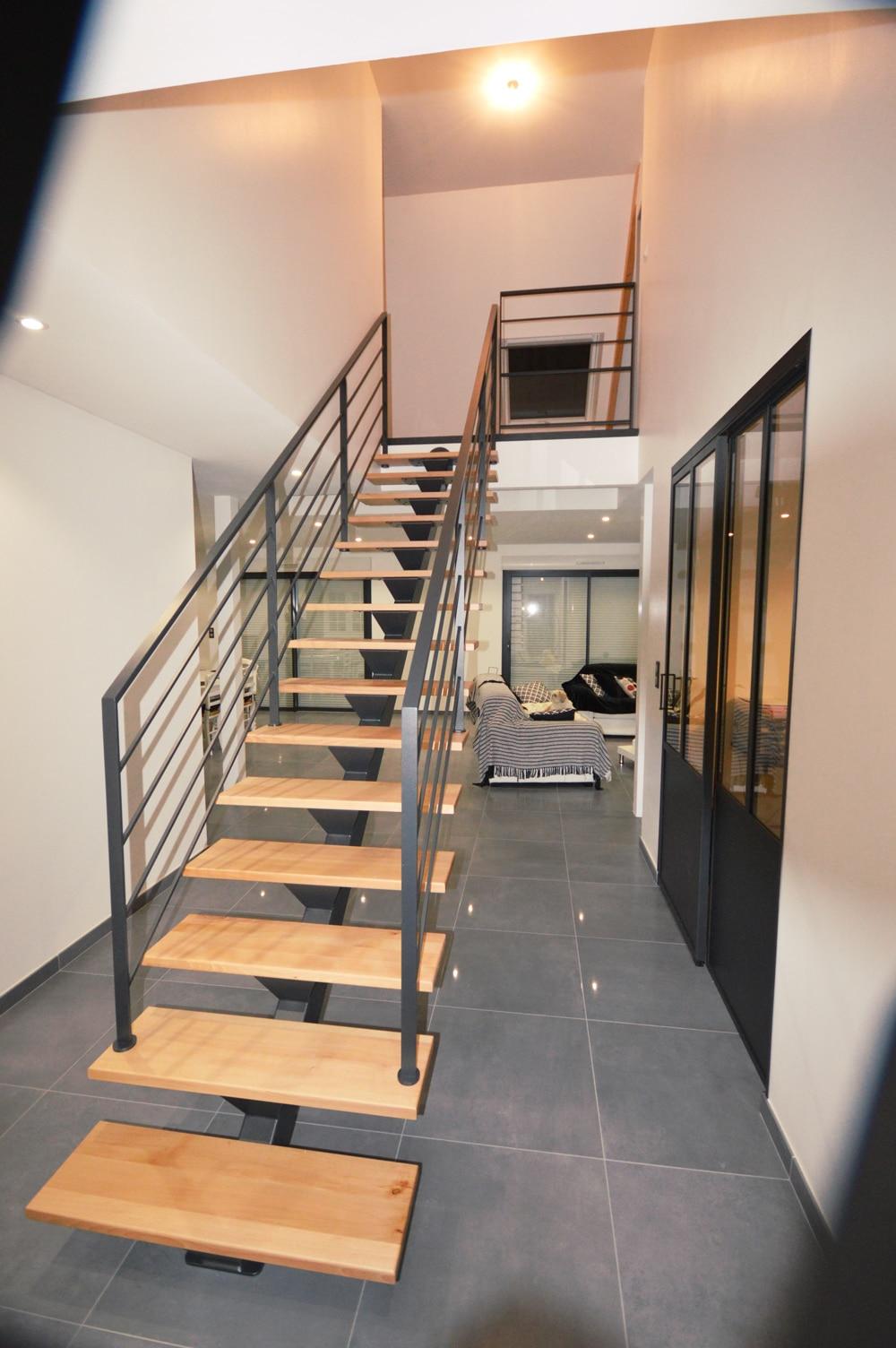 escalier-+-verriere-porte-coulissante