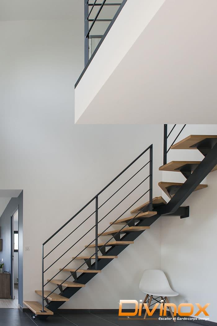Rambarde acier escalier