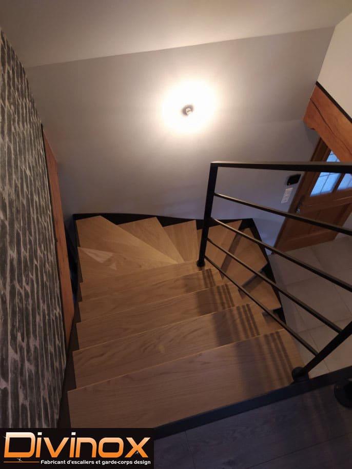 Escalier deux quarts tournants