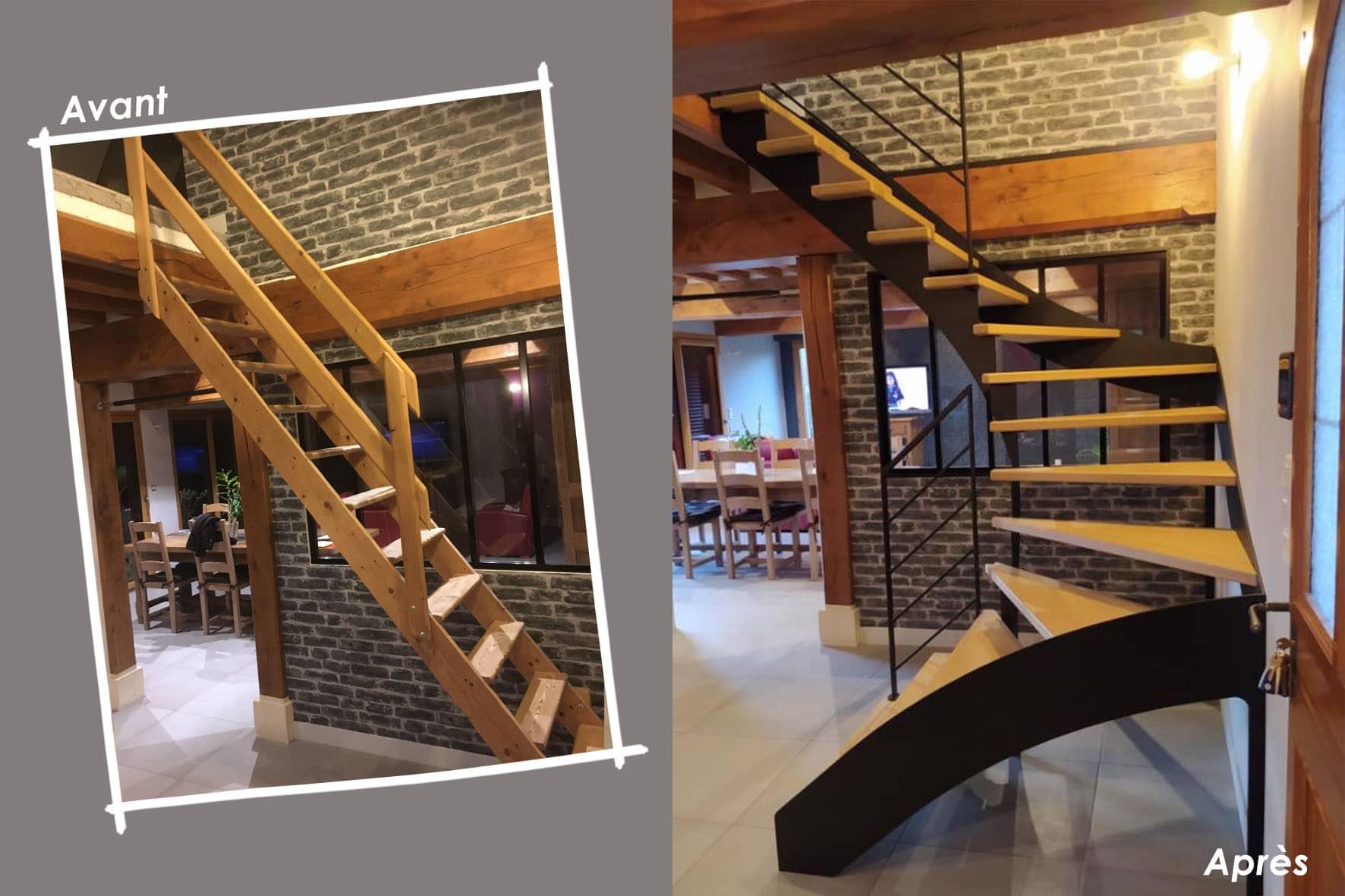 Escalier Avant/Après