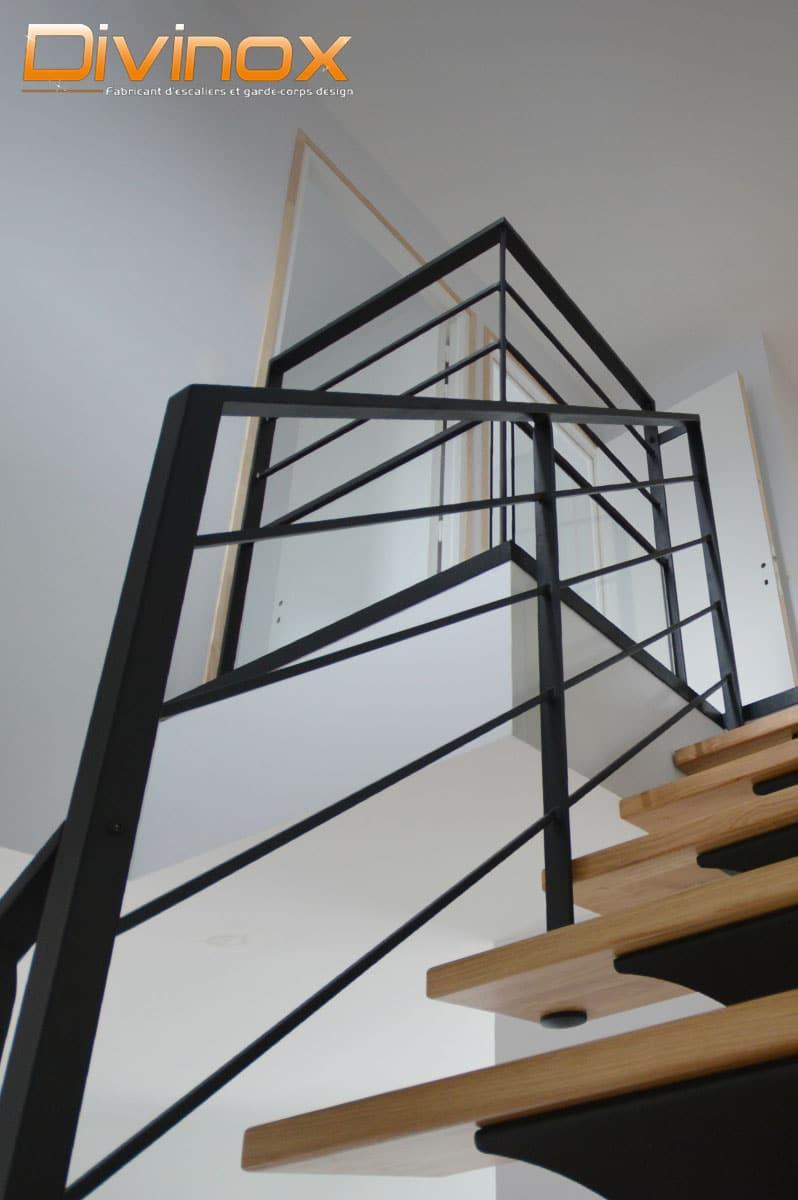 garde-corps acier pour escalier